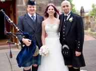 Wedding Piper Bride & Groom