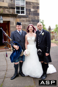 Wedding Piper Bride and Groom