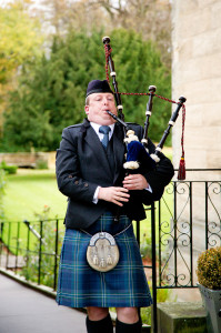 Wedding Piper Balbirnie House